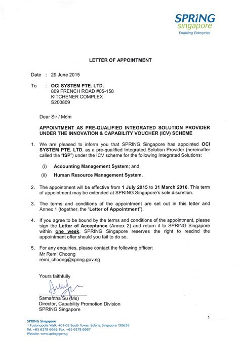 appointment letter template word dlword
