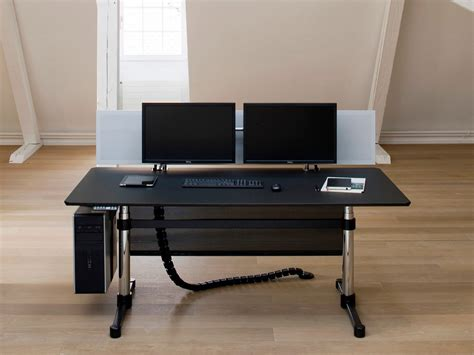 bureau ajustable bureau de direction rectangulaire usm kitos e advanced by