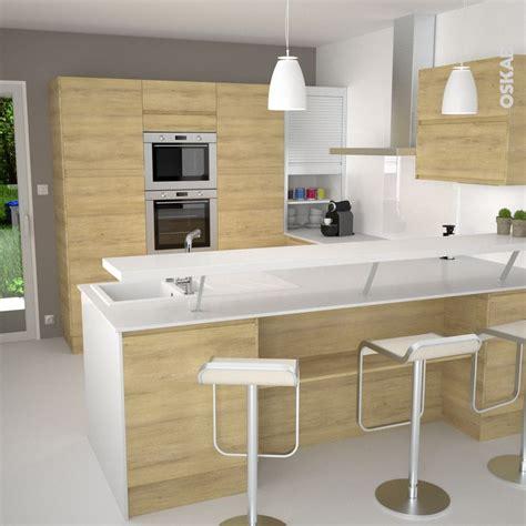 cuisine bois nature et d馗ouverte 1000 images à propos de cuisine équipée design oskab sur armoires bar et cuisinières appareil