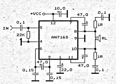Surround Amplifier Circuit Schematic Electronic