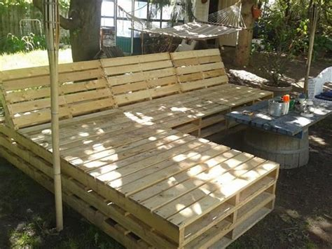 diy pallet outdoor sectional furniture pallet patio