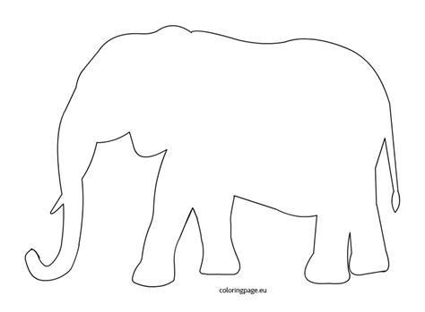 elephant template printable elephant template coloring page