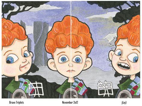 Random Drawings: Brave - Triplets