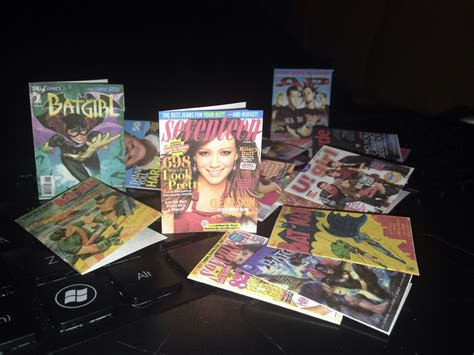 magazines  comic books  scale  dollhouse