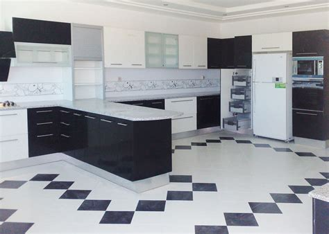 cuisine blanc et noyer cuisine noir et blanc top cuisine