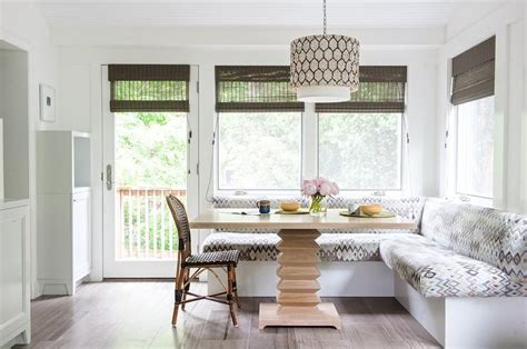 shaped banquette eclectic dining room eric olsen