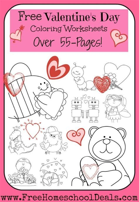 free s day preschool packets and printables 461 | FreeValentinesDayColoringWorksheets
