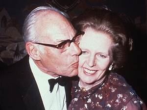 Denis and Margaret Thatcher in 2000