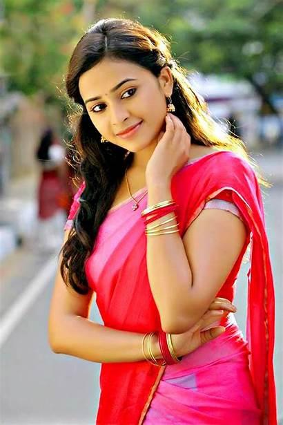 Sri Telugu Actress Saree Indian Divya Actresses