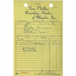 sam phillips recording studio invoice copy signe sam With recording studio invoice