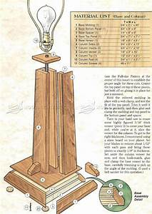 prairie table lamp plans o woodarchivist With floor lamp woodworking plans