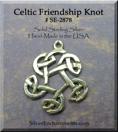 sterling silver celtic friendship charm celtic jewelry