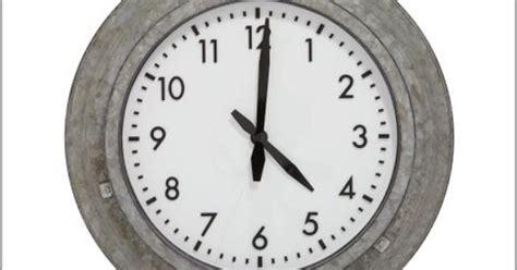 Galvanized Metal Outdoor Clock