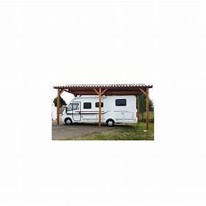 Abri Camping Car Bois : abri toit double pente en bois douglas pour camping car ~ Dailycaller-alerts.com Idées de Décoration