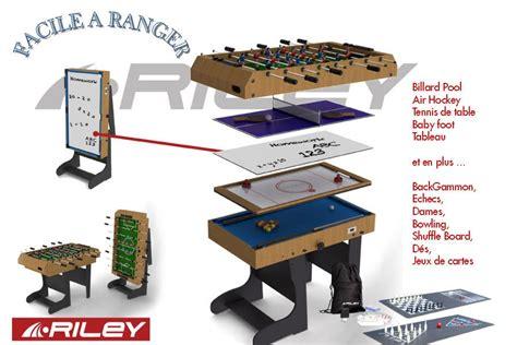 babyfoot de table table multi jeux 12 en 1 billard baby foot air hockey ping pong