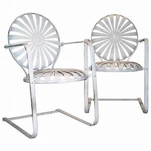 1930s Iron Garden Chairs Francois Carre at 1stdibs