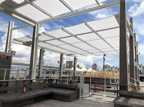 pier  summer pavilion north units en fold retractable awning  uni systems