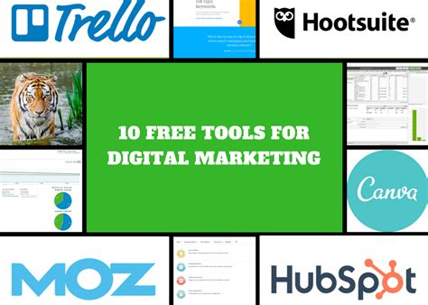 Free Digital Marketing by 10 Free Digital Marketing Tools You Should About