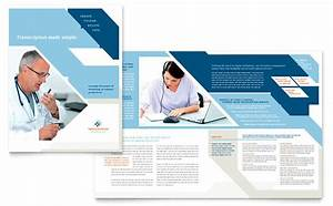 medical transcription brochure template design With health pamphlet template