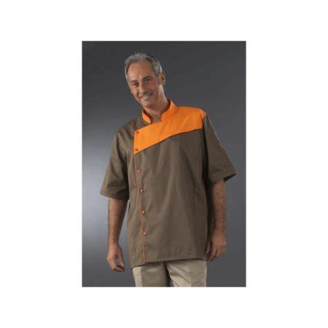 veste cuisine homme personnalisé veste chocolatier à plaston manches courtes label blouse