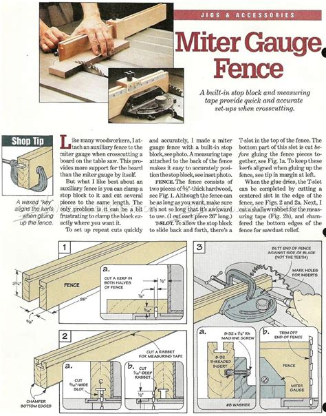 miter gauge fence plans woodarchivist