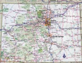 Colorado State Map Cities