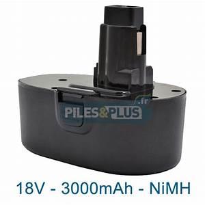 Batterie Black Et Decker 18v : batterie pour black et decker type cd18cab 18v nimh ~ Dailycaller-alerts.com Idées de Décoration