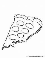 Pizza Coloring Pages Cheese Pepperoni Hut Sheet Template Drawing Printable Pepporoni Slice Cartoon Printables Cheesy Popular sketch template