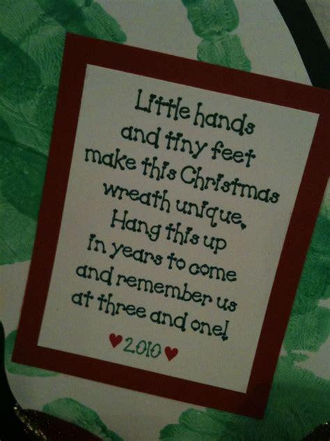 handprint memories toddler christmas preschool
