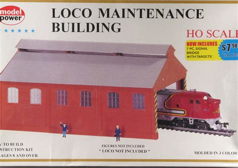 model power ho scale locomotive maintenance bldg kit