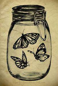 Butterflies In A Mason Jar By  Heyydaydreamer On