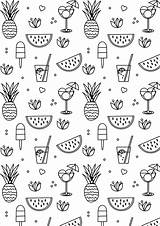 Coloring Summer Printable Pages Sheets Aesthetic Cool Meinlilapark Freebie Ausdruckbare sketch template