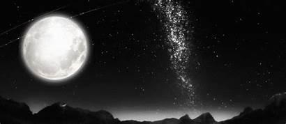 Moon Stars Sky Moonlight Supermoon Seen Biggest