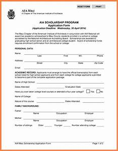7 high school scholarship application template bussines With scholarship forms template