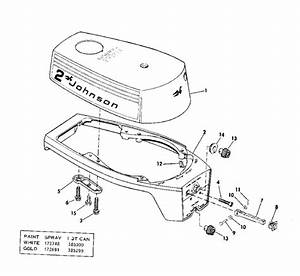 Motor Cover Parts For 1975 2hp 2r75d Outboard Motor