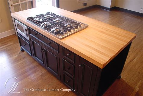 wood kitchen island top custom maple wood countertop princeton jersey