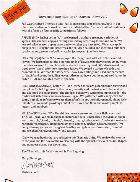 october newsletter ideas preschool newsletter ideas october preschool newsletter