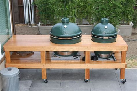 plans for large green egg table xl big green egg table plans big green egg pinterest
