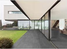 Modern patio with grey porcelain tile Modern Patio