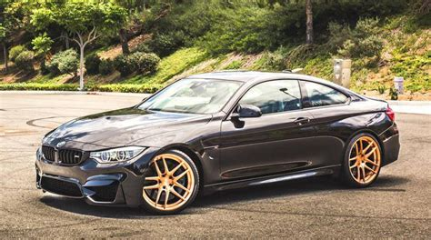 Gold-wheeled Bmw M4 By Tag Motorsport