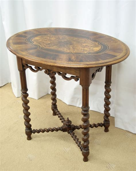 antique l tables sale victorian walnut oval occasional table for sale antiques