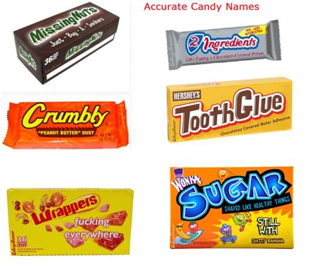 Accurate Candy Names / Funny Pictures / Funny Pictures
