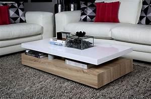 Table Basse Blanche Design : table basse style nordique en bois ronde v n setti ~ Nature-et-papiers.com Idées de Décoration