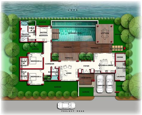 luxury mansion floor plans  indoor pools backyard