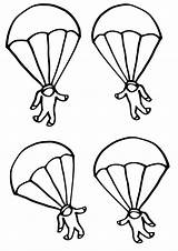 Parachute Coloring Pages Parachutes sketch template