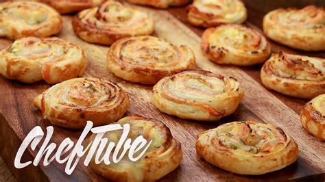 canapes aperitif facile comment faire des escargots feuilletés au saumon recette