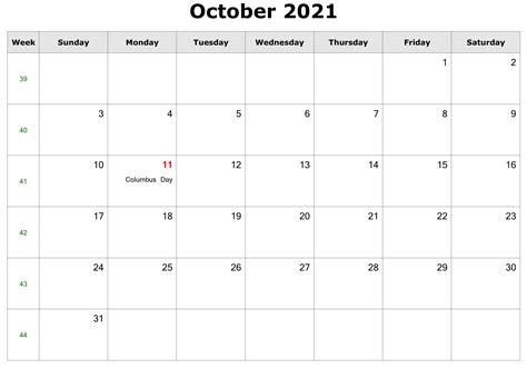 october  calendar   printable calendar