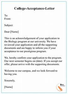 simple resignation letter template college acceptance letter template format sample examples