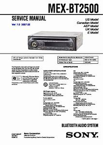 Sony Car Audio Service Manuals