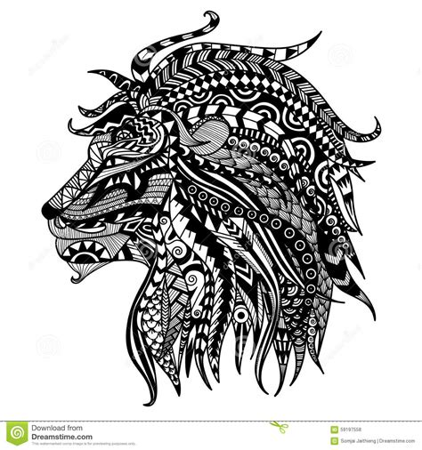 Lion Stock Vector Image 59197558